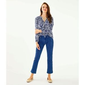 LILLY PULITZER SOUTH OCEAN CROP FLARE